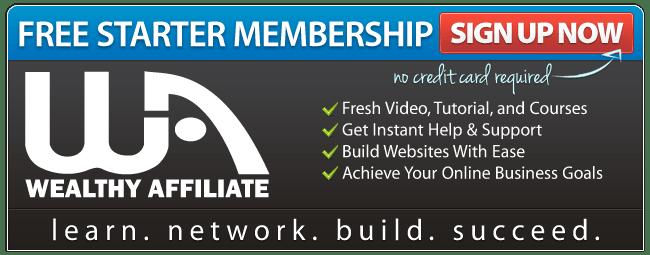 Wealthy Affiliate Membership Banner