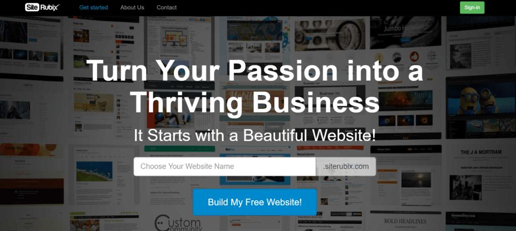 SiteRubix Homepage