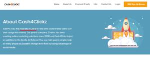 Cash4Clickz About Page Lie