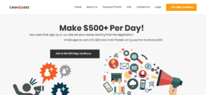 Cash4Clickz Homepage