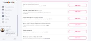 Cash4Clickz Tasks and Rewards