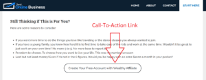 Call to Action Link Example