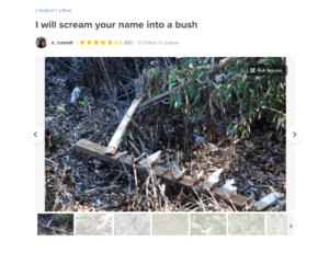 Scream Your Name into a Bush